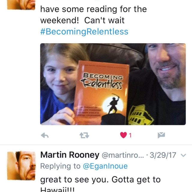 Its an honor for me to have themartinrooney reading myhellip