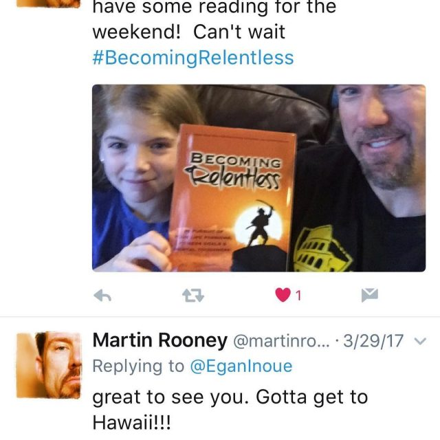 Look who has my book? martinrooney trainingforwarriors themartinrooney