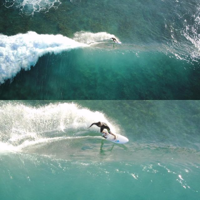 Caught my friend surfing! bottomturn surf drone southswell blessed