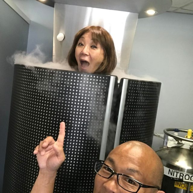 Pamela Young stop by today! pamelayoungsprinkle painrelief Cryotherapyhawaii cryotherapy